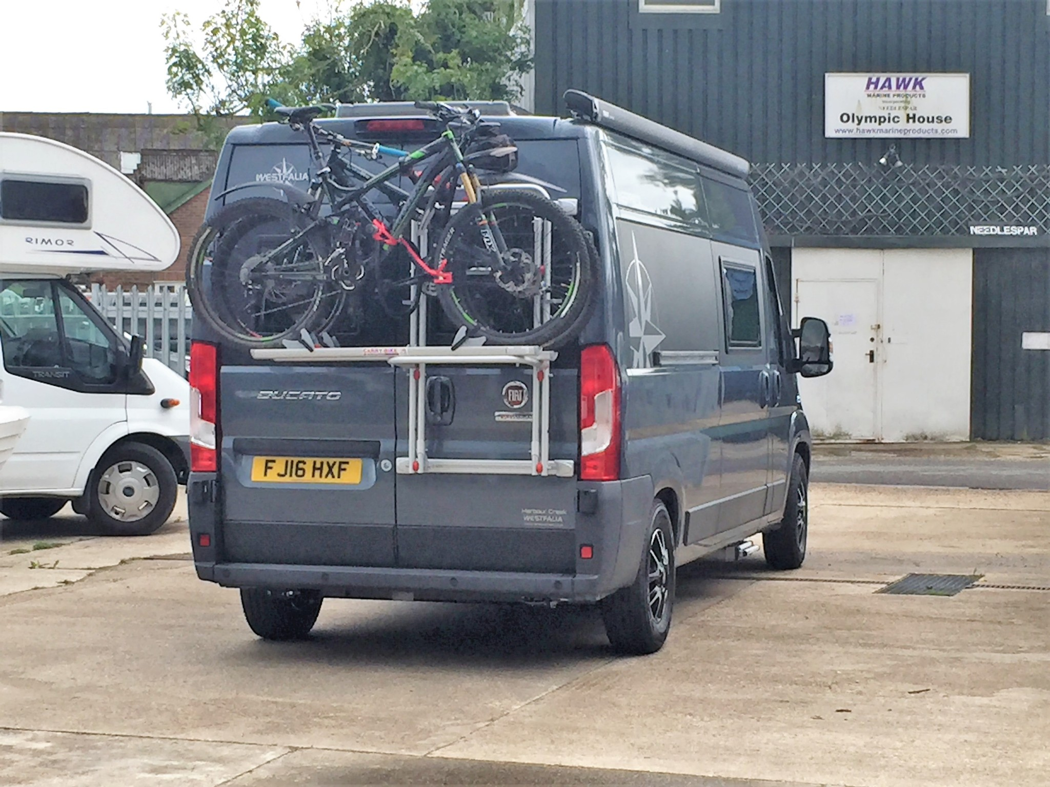 Westfalia Fiat Ducato Cycle Bike Rack 2 Bikes