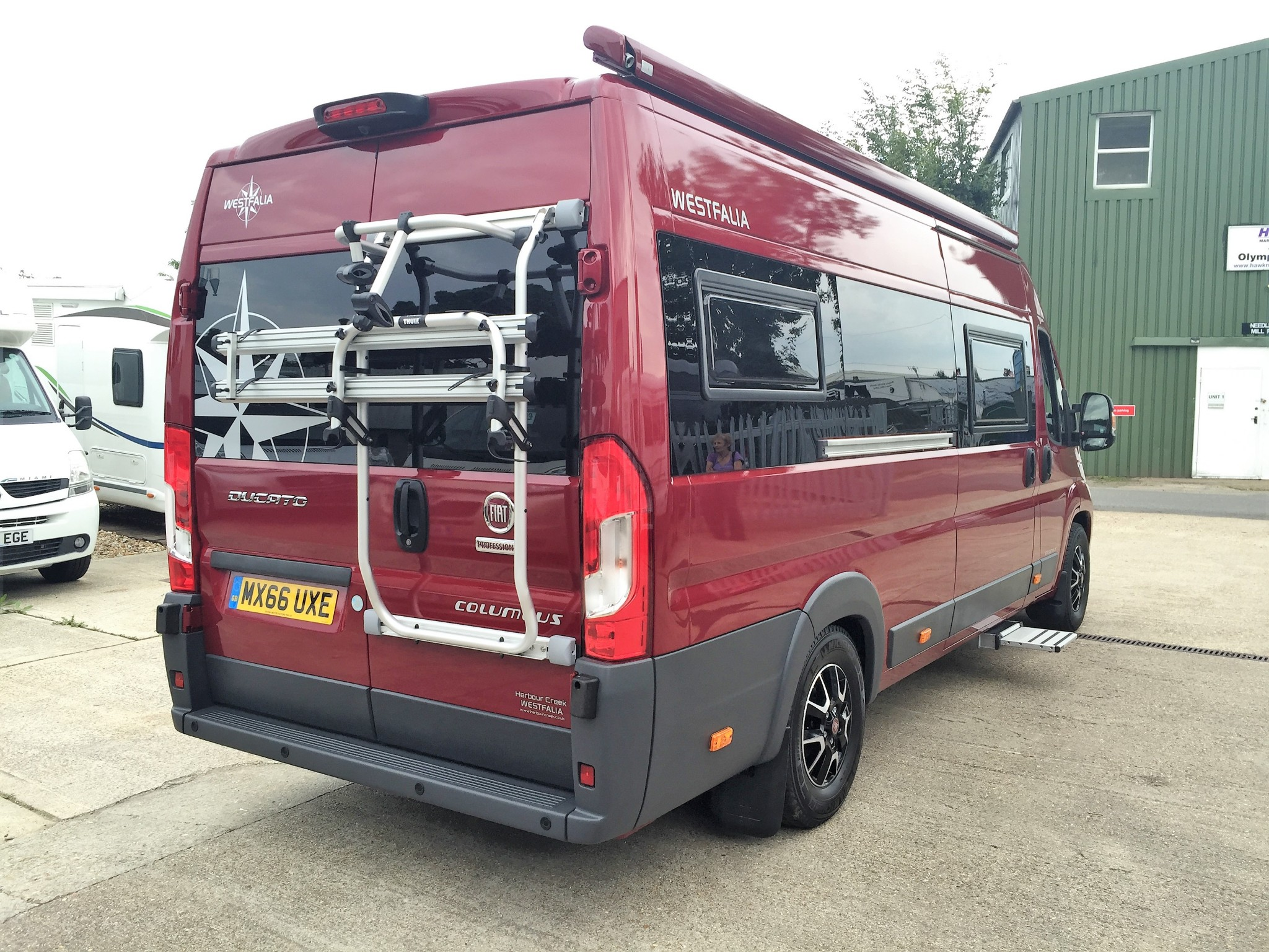westfalia fiat ducato cycle bike rack 2 bikes harbour creek motorhomes your south coast. Black Bedroom Furniture Sets. Home Design Ideas