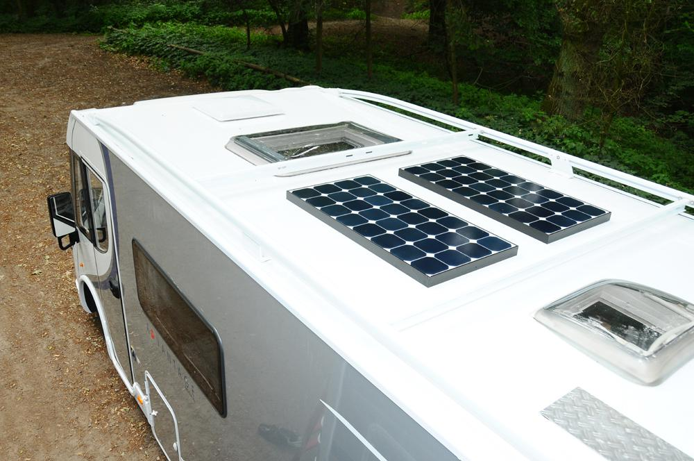 Motorhome Solar Panel System 100 130 Watt Roof Mounted Harbour Creek Motorhomes
